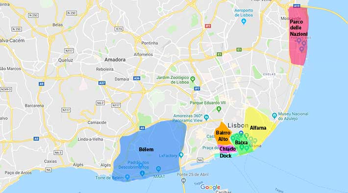 Quartieri di Lisbona da visitare